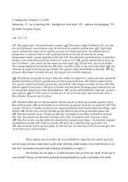 3. søndag efter Trinitatis 2. tr. 2010 Salmevalg: 15 – op, al den ting ...