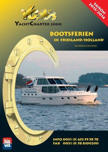 Bootsferien - Yachtcharter 2000 Heerenveen Friesland