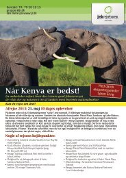 Hent brochure for Safari i Kenya - Jysk Rejsebureau