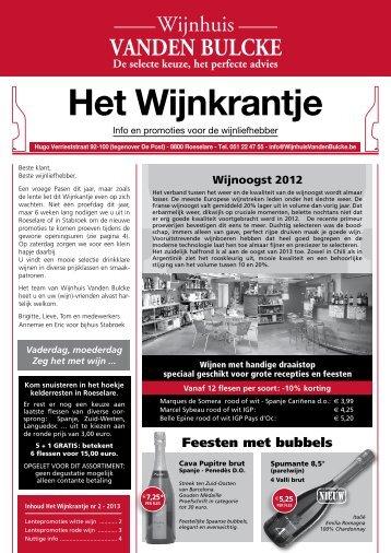 Het Wijnkrantje - Wijnhuis Vanden Bulcke