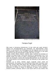 Tweede prijs: Tempus Fugit door André Kastelein