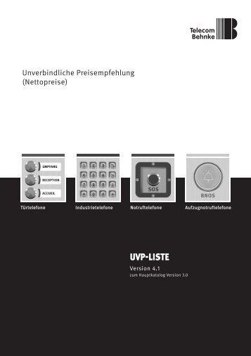 Uvp-Preisliste - Telecom Behnke