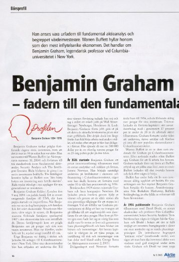 Benjamin Graham - Investeraren.se