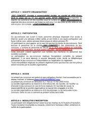 ARTICLE 1 : SOCIETE ORGANISATRICE SGC CONCEPT ,Société ...