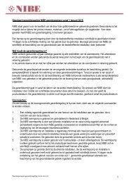 garantieregeling voor warmtepompen - Nibe