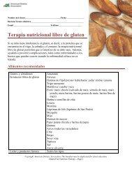 Terapia nutricional libre de gluten