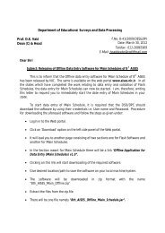 Department of Educational Surveys and Data Processing Prof. D.K. ...