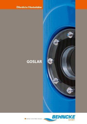 """Filterbehälter/Filteranlage """"GOSLAR"""" - Behncke GmbH"""