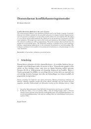 Domstolarnas konflikthanteringsmetoder - Retfærd