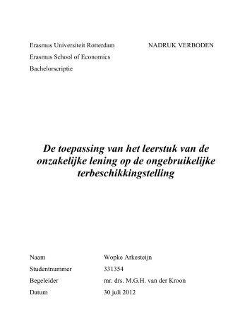 finalVersion - Erasmus Universiteit Rotterdam