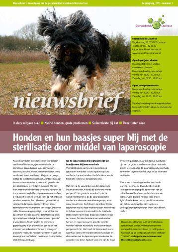SD nieuwsbrief - 2013 - nr 1[1].pdf - Dierenkliniek Lieshout
