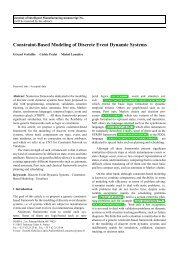 Constraint-Based Modeling of Discrete Event ... - Agata - Cnes