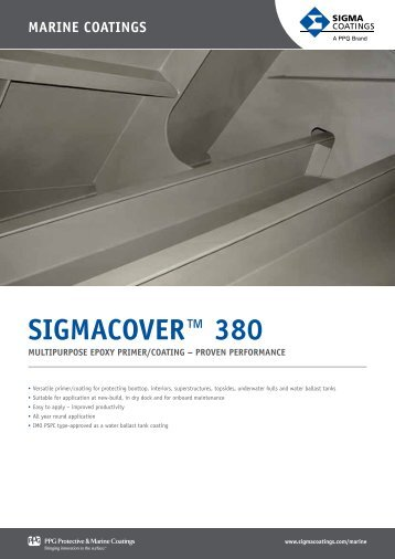 SIGMACOVER™ 380 - Sigma | coatings