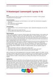 9 Stoelenspel (samenspel) (groep 3-4) - Spelen vanuit verbeelding