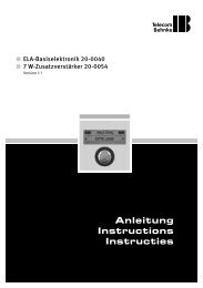 Anleitung Instructions Instructies - Telecom Behnke