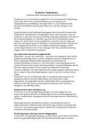 Vi skal bo i København - Studenterrådet ved Københavns Universitet