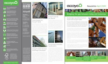 Newsletter April 2009