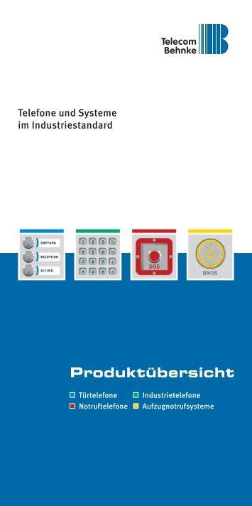 Produktübersicht - Telecom Behnke