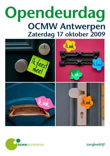 Folder opendeurdag OCMW Antwerpen - Kortom