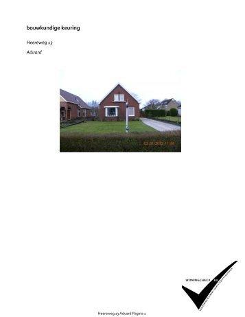 Klik hier om het bouwkundig rapport te downloaden. - Dijkstra ...