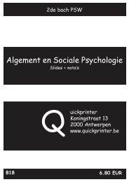 B18 Algemene en sociale psychologie - Quickprinter