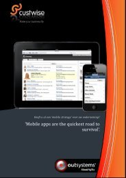 'Mobile apps are the quickest road to survival'. - custwise