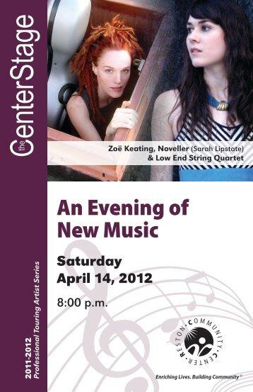 An Evening of New Music -- Program - Reston Community Center