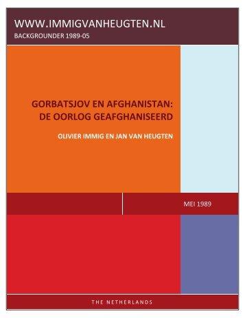 GORBATSJOV EN AFGHANISTAN: DE OORLOG GEAFGHANISEERD