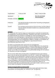bijlage:aanvullende notitie behorend bij raadsvoorstel - Gemeente ...