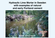 Föredrag Hydraulic Lime Mortar in Sweden with examples of natural ...