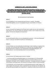 Reglement betreffende de praktische modaliteiten voor ... - Molenbeek