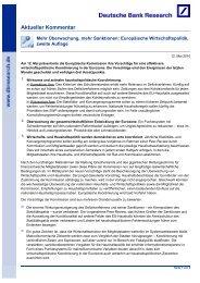 Aktueller Kommentar - Deutsche Bank Research