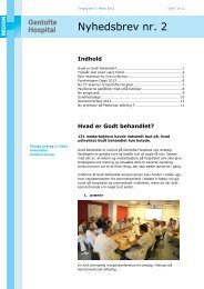 Nyhedsbrev nr. 2 - Gentofte Hospital