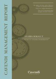 Snabbare Bokslut - Cavendi Management Consulting