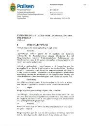 Förfrågningsunderlag, inklusive bilaga 3, 4, 5, 6 - Polisen
