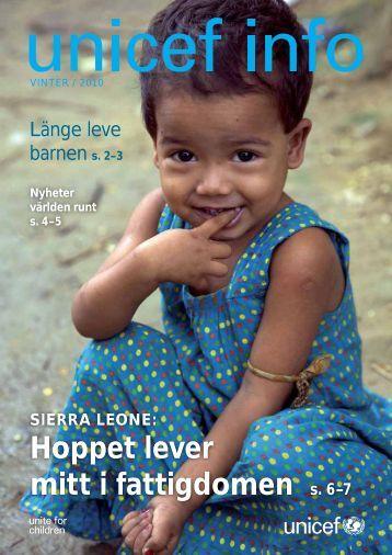 Hoppet lever mitt i fattigdomen s. 6–7