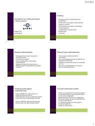 Het gebruik van marktonderzoeken in IE-procedures ... - Aippi