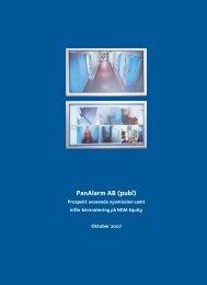 PanAlarm AB (publ)