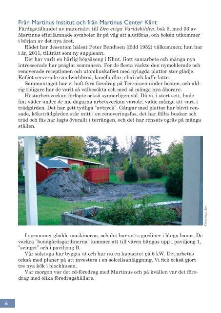 Julbrev 2011 - Martinus Institut