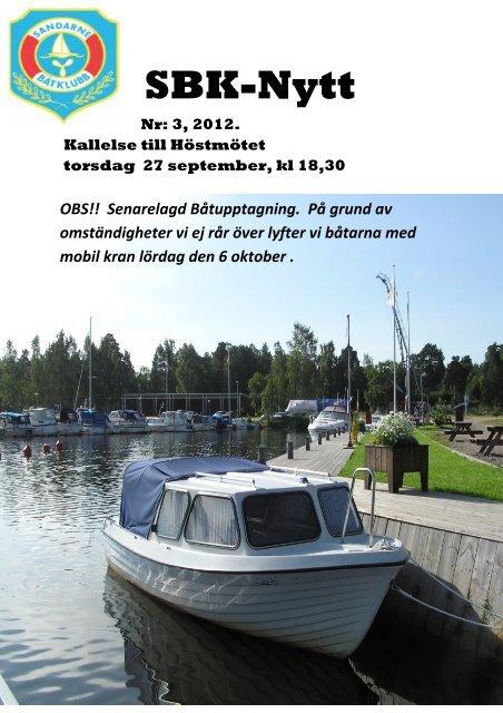 SBK-Nytt 2012.Nr.3 - Sandarne båtklubb