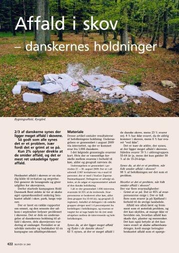 Affald i Skov - danskernes holdninger - Dansk Skovforening