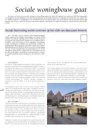 Sociale woningbouw gaat verder op kwalitatief elan (pdf - Vlaamse ...