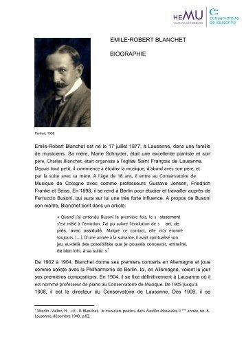 biographie - bibliothèque - Conservatoire de Lausanne