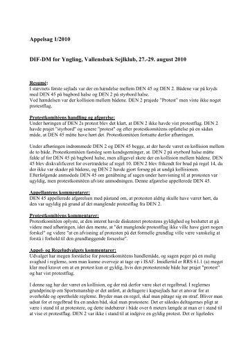 Appelsag 1-2010.pdf - Dansk Sejlunion