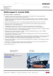 Delårsrapport 3. kvartal 2004 - DS Norden