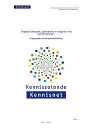 Projectplan kennisontwikkeling - Kennisnet