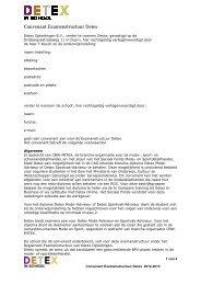 Convenant Examenstructuur Detex 2012-2013 - Detex In School