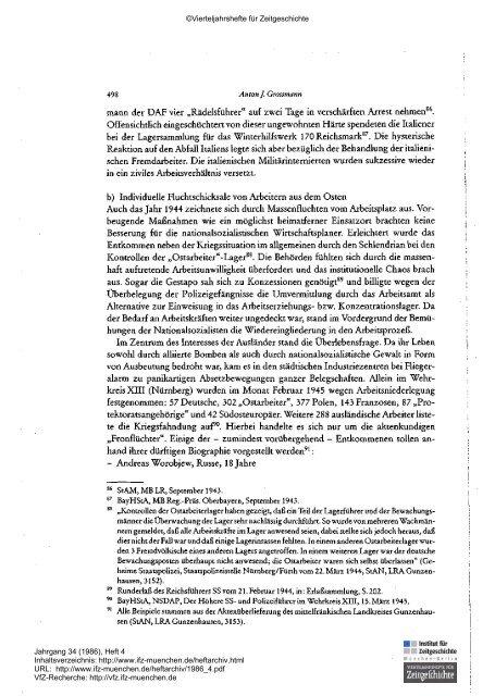 VIERTELJAHRSHEFTE FÜR ZEITGESCHICHTE  - Institut für ...