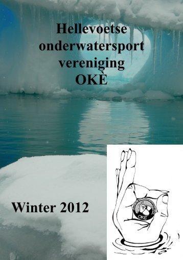 Hellevoetse onderwatersport vereniging OKÈ Winter 2012
