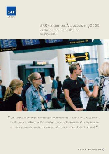 Page 1 SAS koncernen är Europas fjärde största flygbolagsgrupp ...